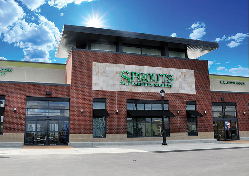 Sprouts exterior, third quarter