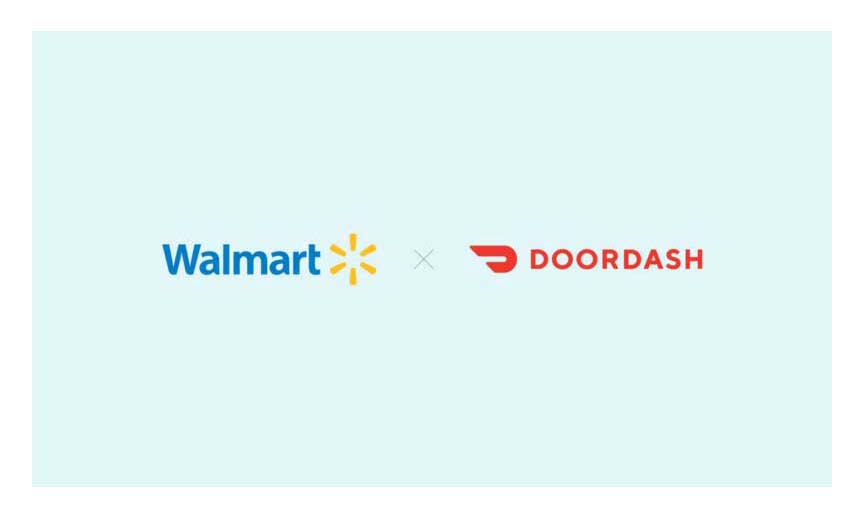 Walmart and DoorDash logos