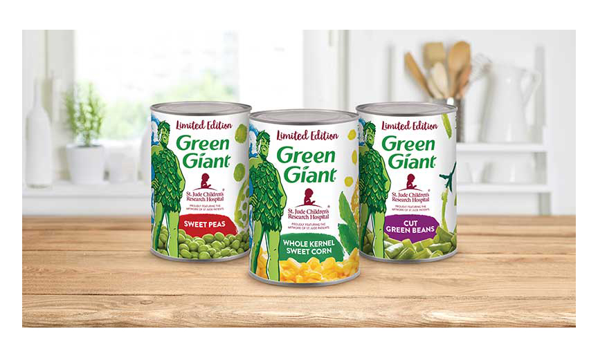Green Giant limited edition cans
