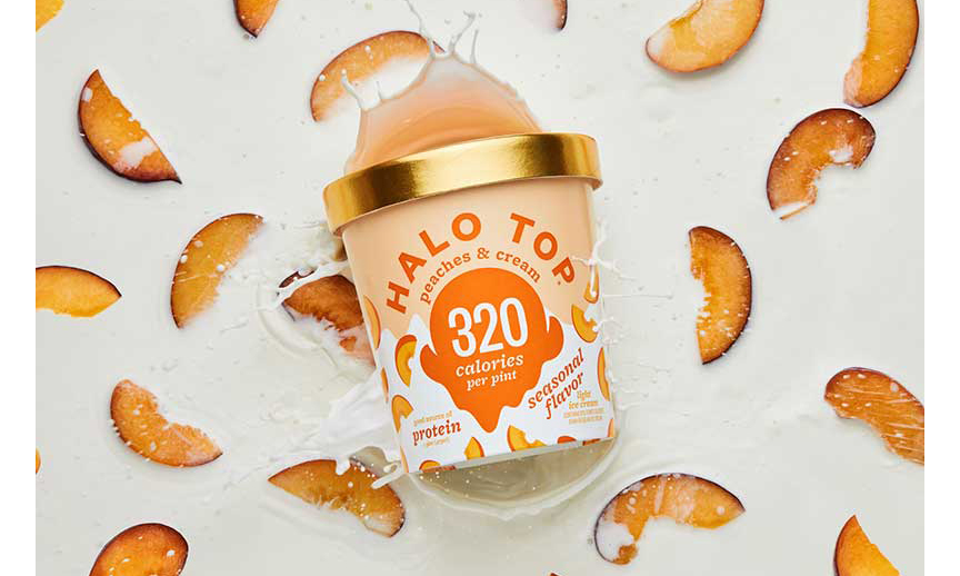 Halo Top Peaches & Cream