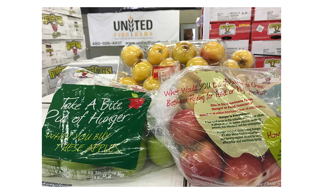 Apples donated to United Food Bank
