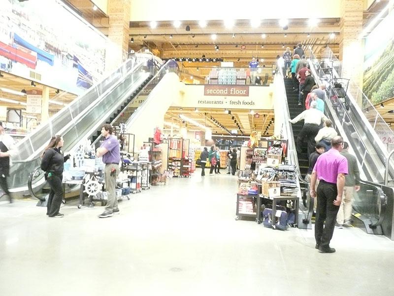 Wegmans Natick escalator