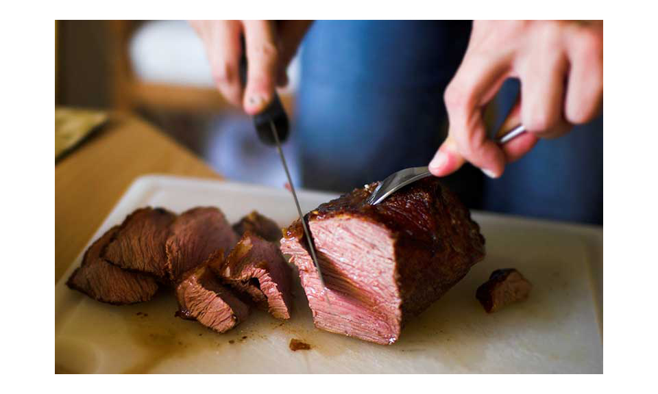 A roast being sliced