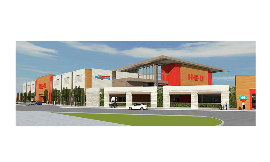 A rendering of H-E-B's new Bellaire store.