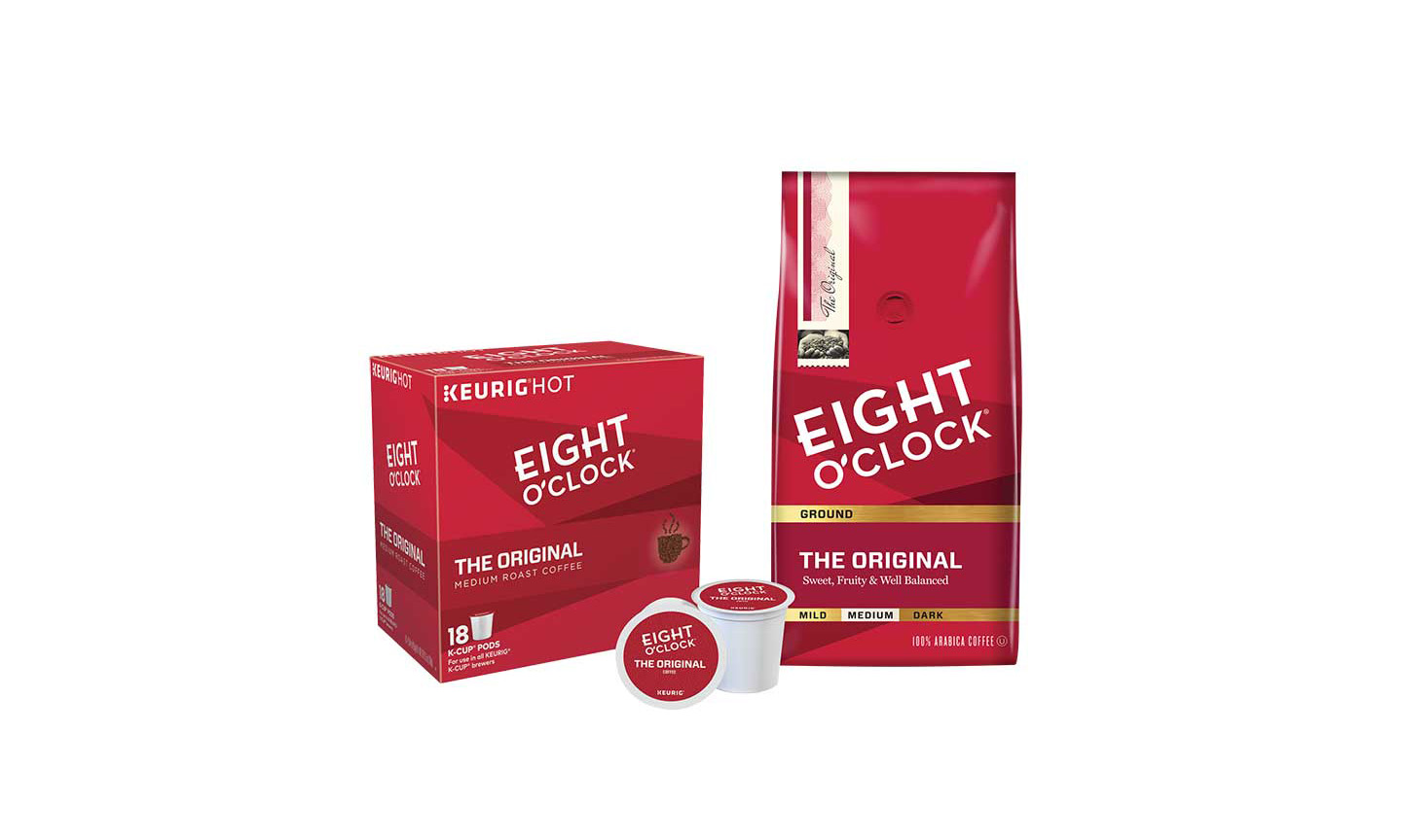 Eight O'Clock Coffee packaging