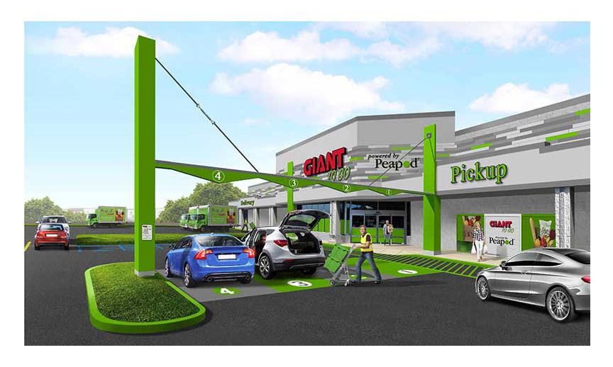 A rendering of Giant's Lancaster e-commerce hub.