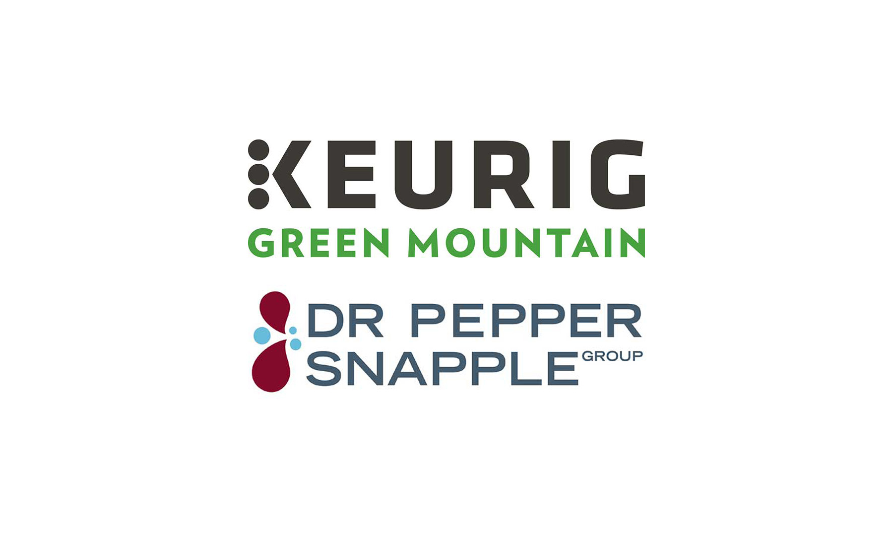 Keurig and Dr Pepper logos