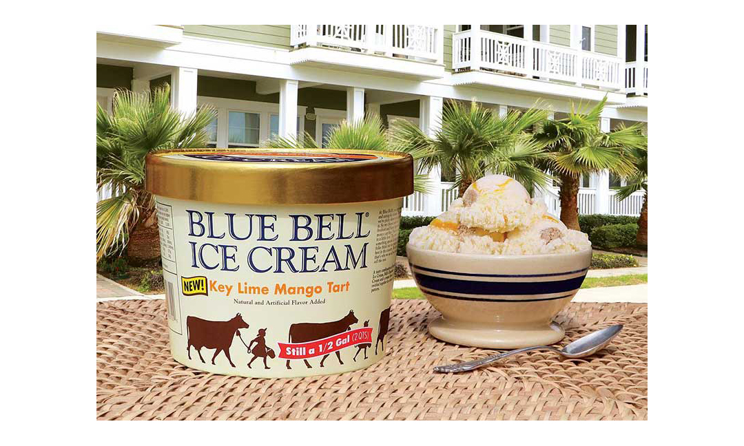 Blue Bell Key Lime Mango Tart carton and bowl