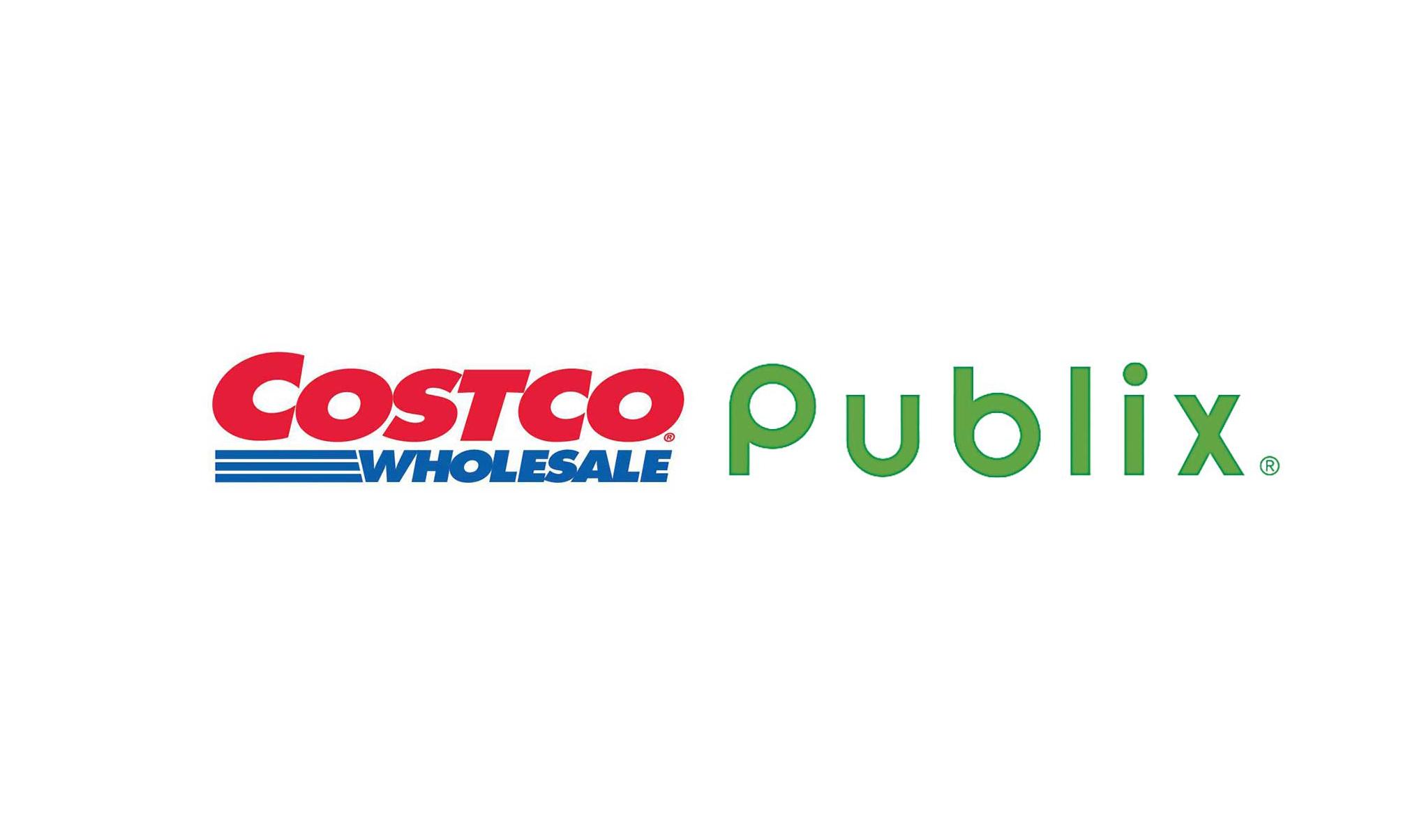 Costco and Publix logos