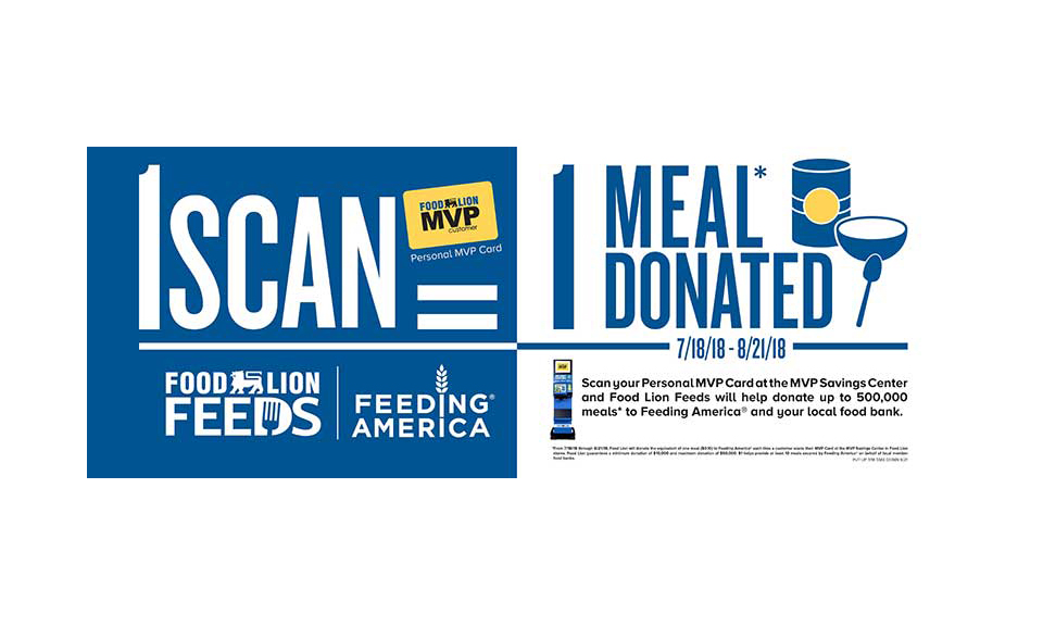 Food Lion meal donations banner