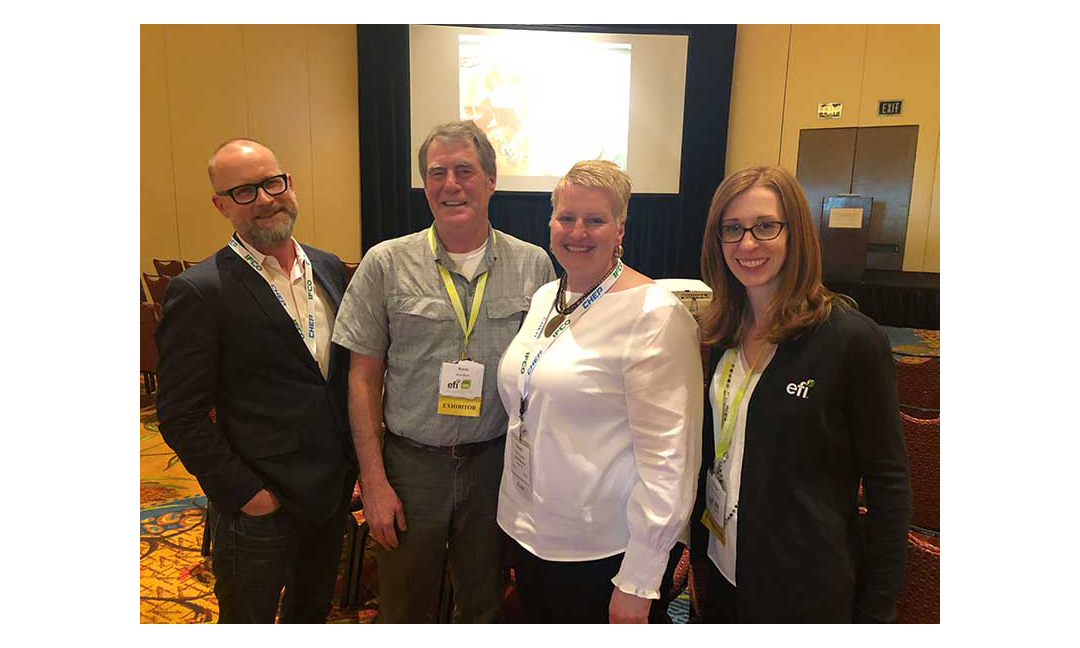 Kenton Harmer and Kevin Boyle, Equitable Food Initiative (EFI); Melinda Goodman, Full Tilt Marketing; LeAnne Ruzzamenti, EFI.