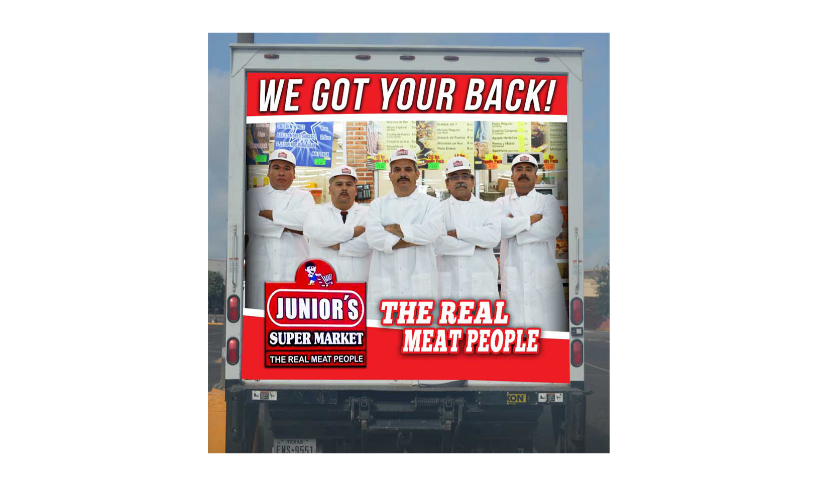 A Junior's Super Market truck