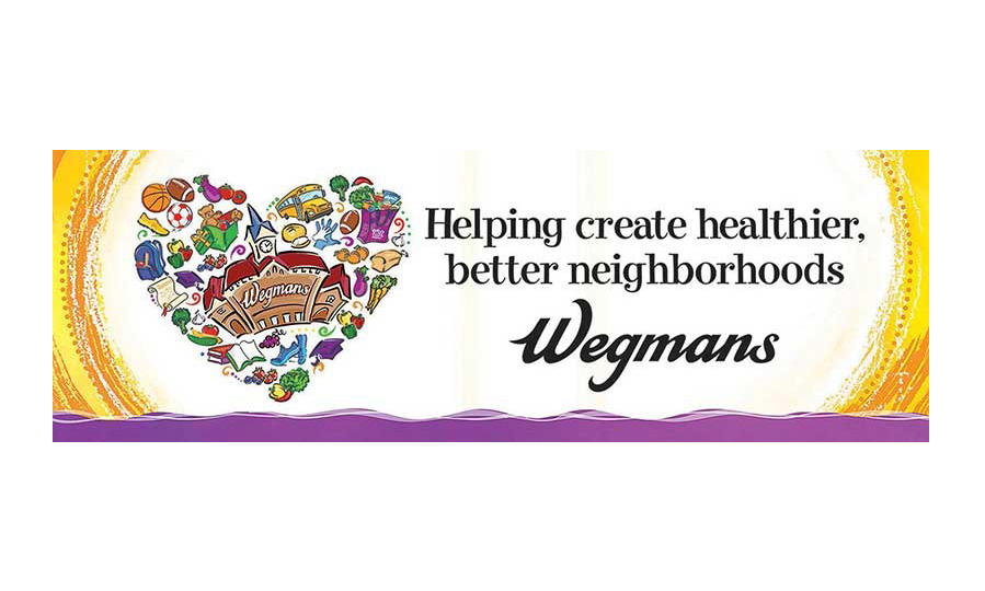 Wegmans' community relations banner
