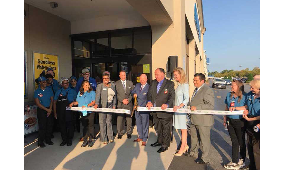 A ribbon-cutting ceremony at one of the renovated Norfolk-area stores.