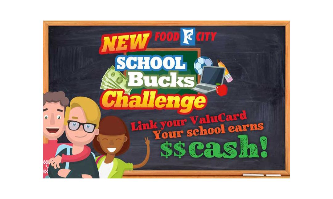 A School Bucks Challenge promotional banner