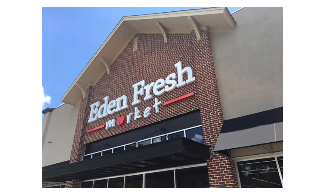 Eden Fresh Market exterior. Photo by Stephanie Reid
