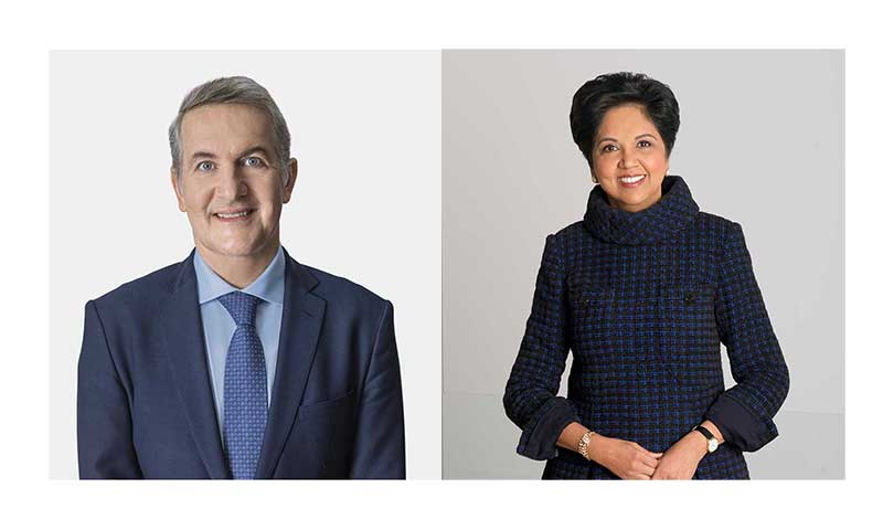 Ramon Laguarta and Indra K. Nooyi.