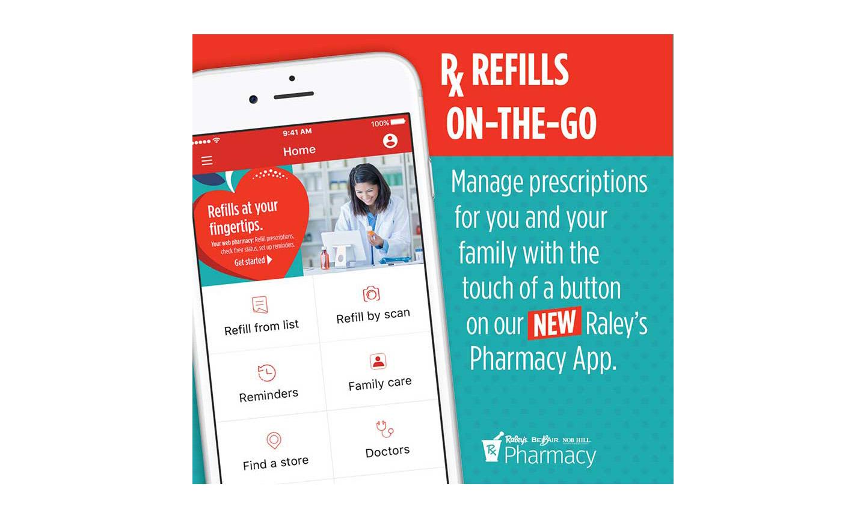 Raley's pharmacy app promo