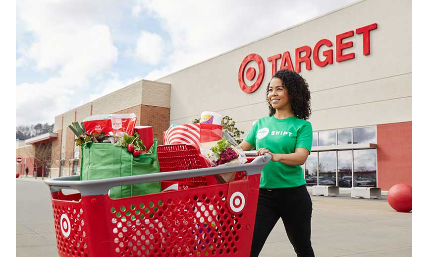 A Shipt shopper in front of a Target