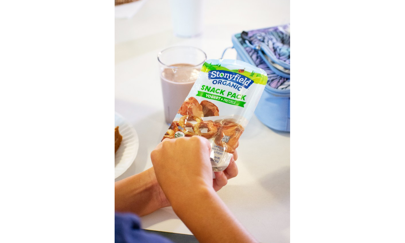 One of the Stonyfield Organic Snack Packs