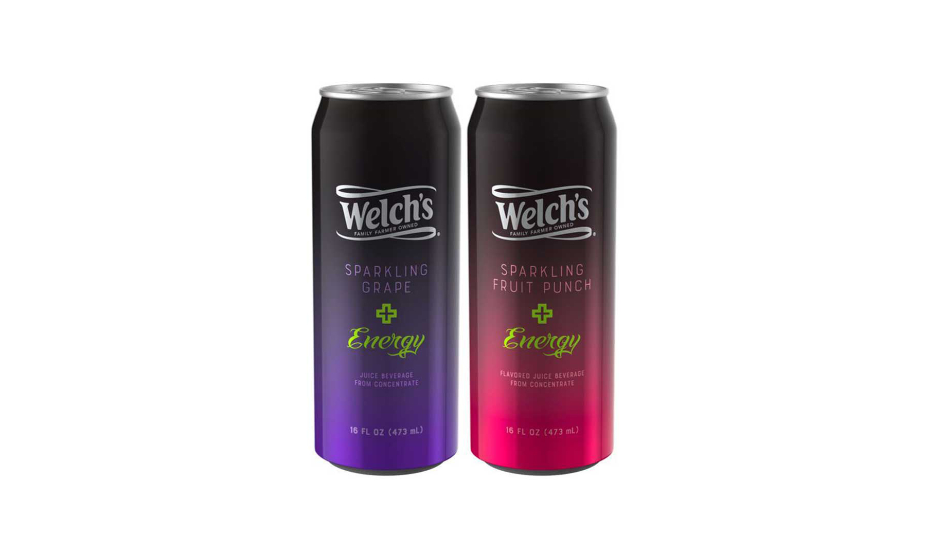 Welch's Sparkling Plus Energy drinks