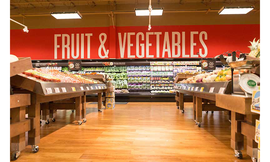The produce department in one of the remodeled stores.