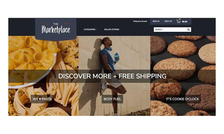 Albertsons' Marketplace website homepage.
