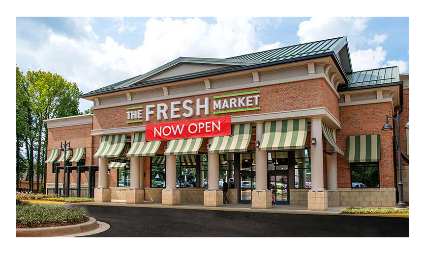 The exterior of Fresh Market's Strawberry Hill store.