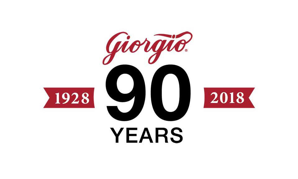 Giorgio Fresh's 90th anniversary logo