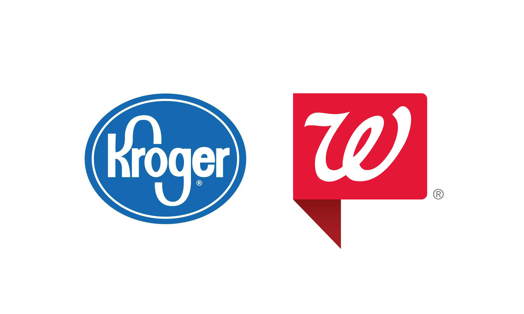 The Kroger and Walgreens logos