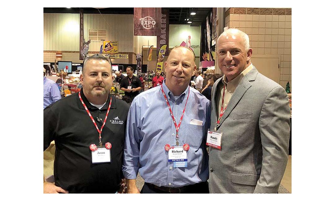 Jason Boyce and Richard Driskell, Firelake Discount Foods; Randy Arceneaux, Affiliated Foods.