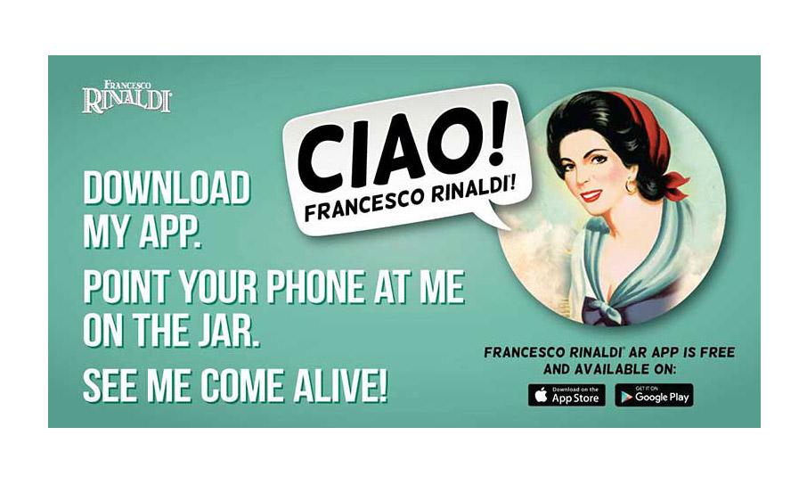 An ad for the new Francesco Rinaldi app