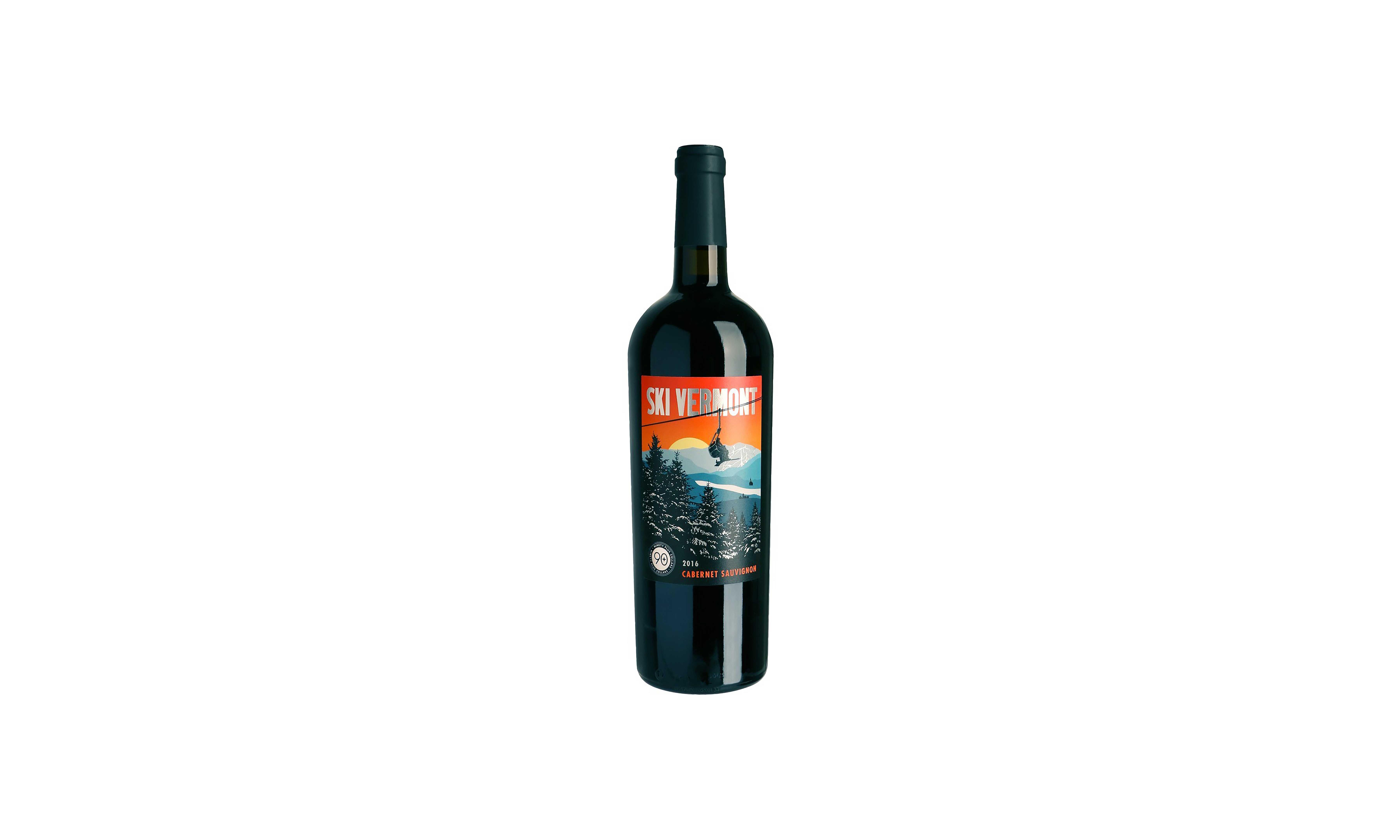 A bottle of Ski Vermont Cabernet Sauvignon