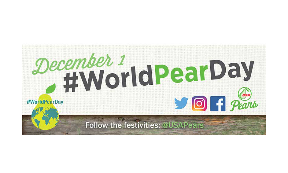 A banner ad for World Pear Day
