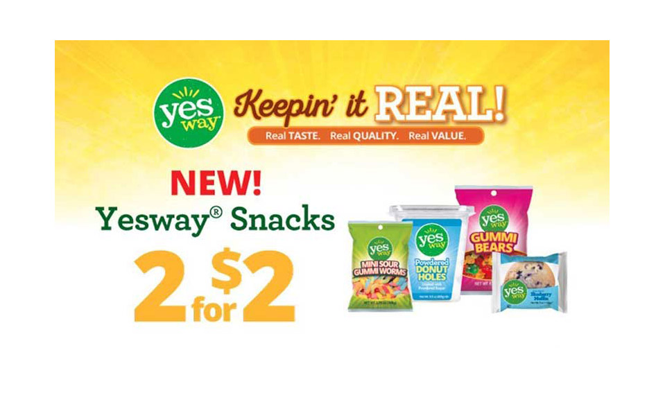Advertising for Yesway's private label line