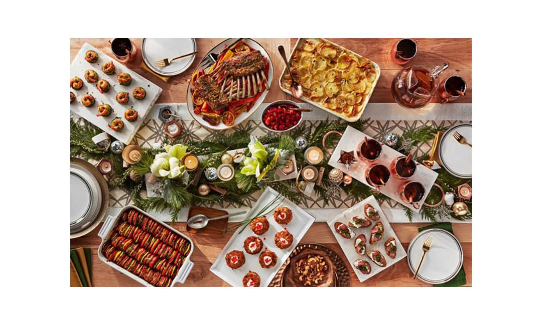 Peapod Christmas foods