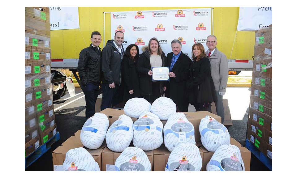 ShopRite associates from Inserra Supermarkets Inc. helped donate 6,500 turkeys.