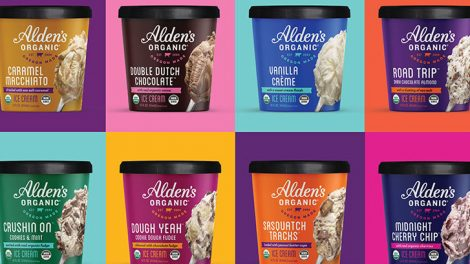 Alden's Organic ice cream pints