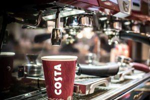 A Costa coffee machine