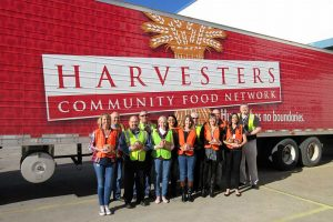 Hormel and AWG donate hams to Harvesters.