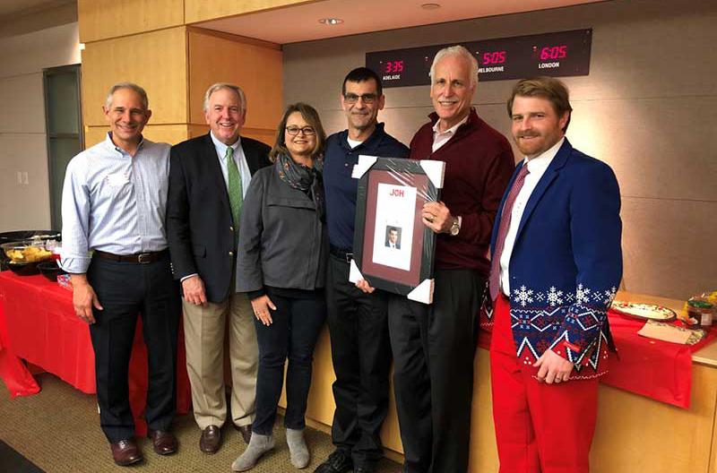 A group photo with JOH's 2018 Harry O'Hare Award