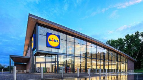 The exterior of a U.S. Lidl