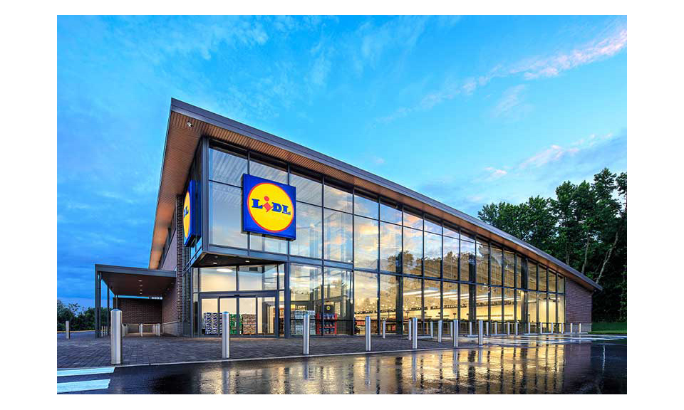 The exterior of a U.S. Lidl, Thiessen