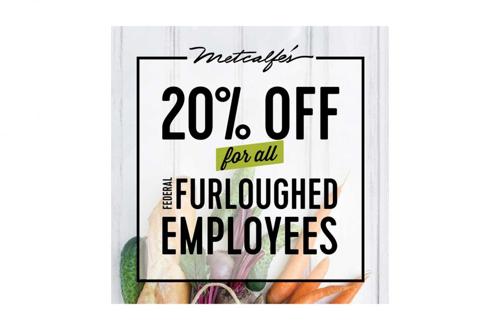 An advertisement for Metcalfe's discount for furloughed workers