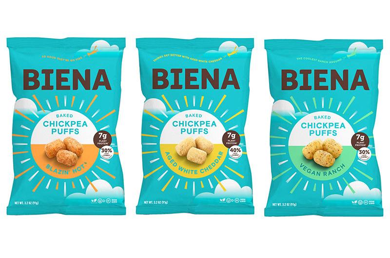 Biena Chickpea Puffs snacks