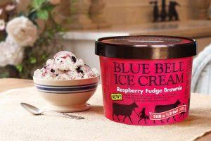 Blue Bell Raspberry Fudge Brownie Ice Cream