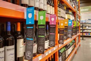 Natural Grocer's Cottage Wine and Craft Beer section