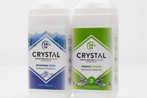Crystal Mountain Fresh and Freshly Minted deodorants.