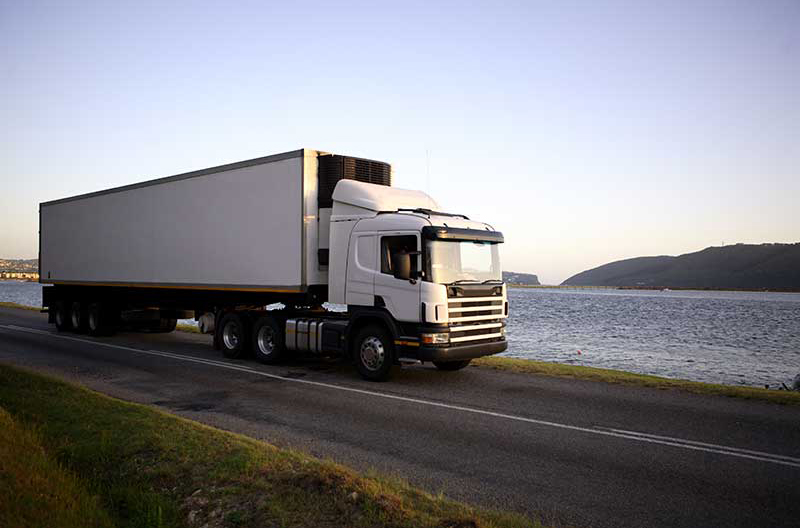 A shipping truck