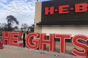 The Heights art installation at H-E-B.